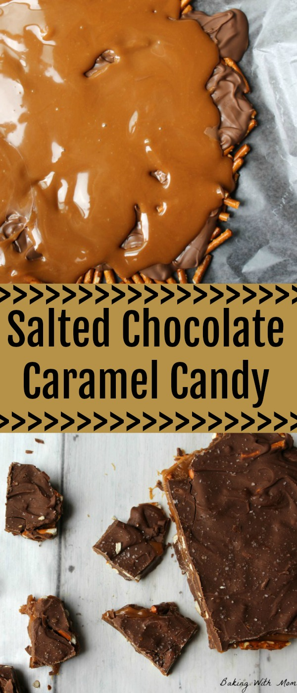Salted Chocolate Caramel Candy an easy dessert recipe with four ingredients