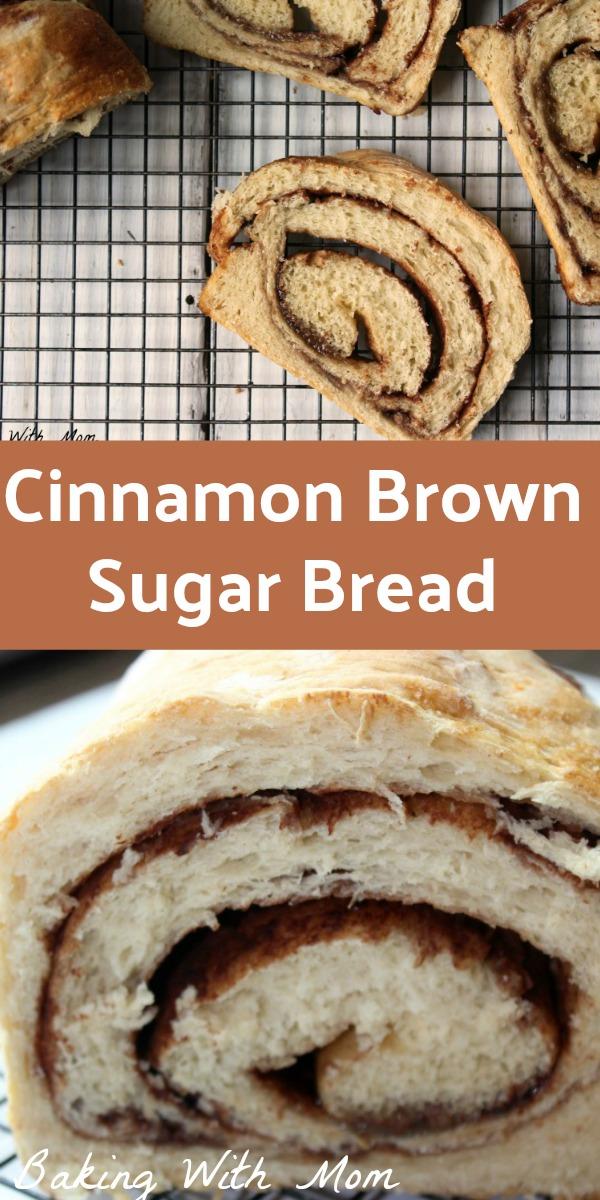 Cinnamon Brown Sugar Bread for breakfast and snack. Delicious bread recipe gooey brown sugar and cinnamon