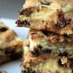 Gooey Chocolate Chip Cheesecake Bars