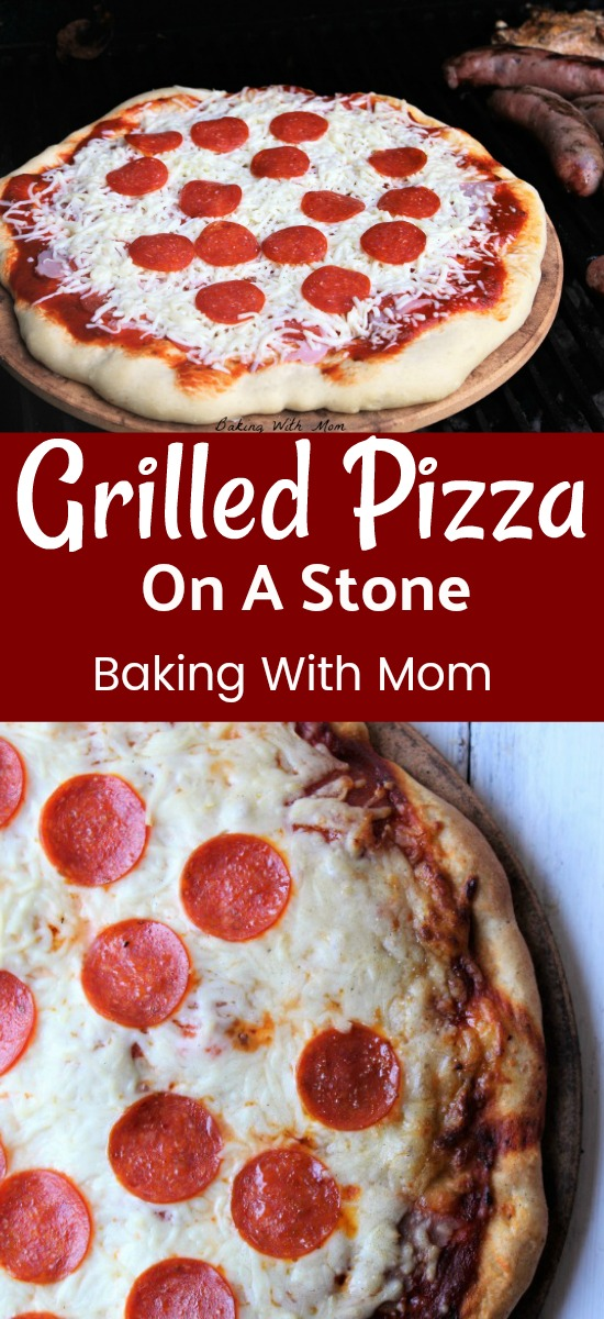 Grilling Pizza On A Stone is easy to do and a family favorite. The crust is crisp and the pizza has a grilled smokey flavor. Delicious!!
