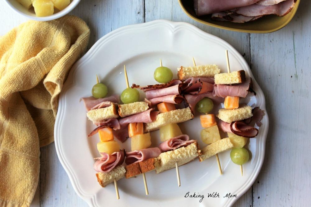Sweet Ham Kabobs #ad #EckrichFlavor #AskForEckrich