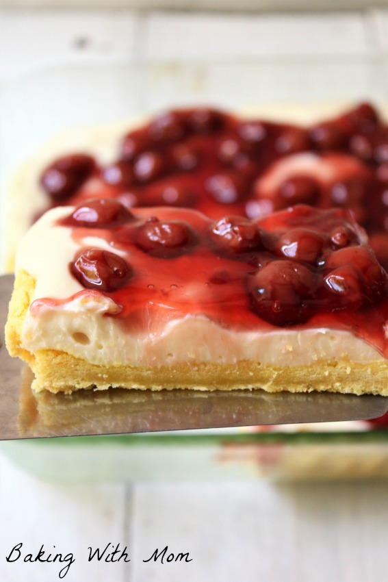 Lemon Cherry Cheesecake With Lemon Crust