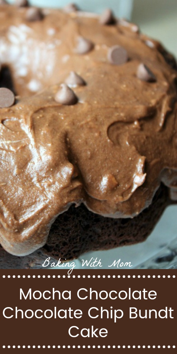 Mocha Chocolate Chocolate Chip Bundt Cake chocolate, coffee and pudding in the mix makes this cake moist, soft and flavorful.