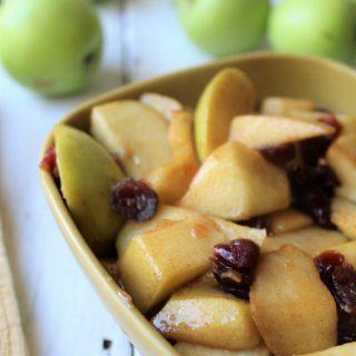 Cinnamon Brown Sugar Apples With Craisins
