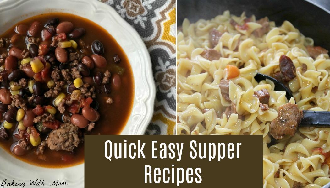 Easy Quick Supper Recipes
