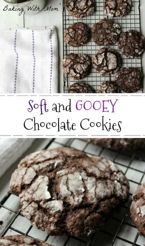 Soft and Gooey Chocolate Cookies perfect for Christmas cookie trays this chocolate cookie recipe has 5 ingredients