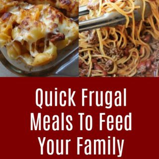 Quick Frugal Meals To Feed Your Family Feed a growing family with price lists and meal ideas