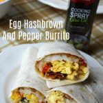 Egg Hashbrown And Pepper Burrito #ad