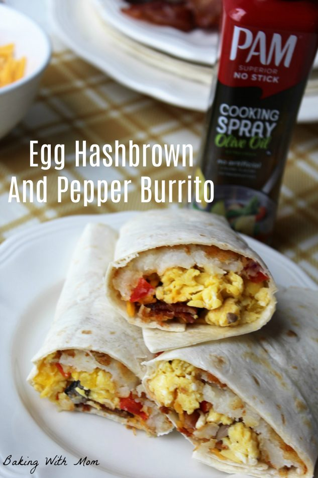 Egg Hashbrown And Pepper Burrito #ad #YouPAMDoIt #PAMInControl