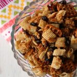 Honey Craisin Snack Mix with pretzels, rice cereal, honey and brown sugar