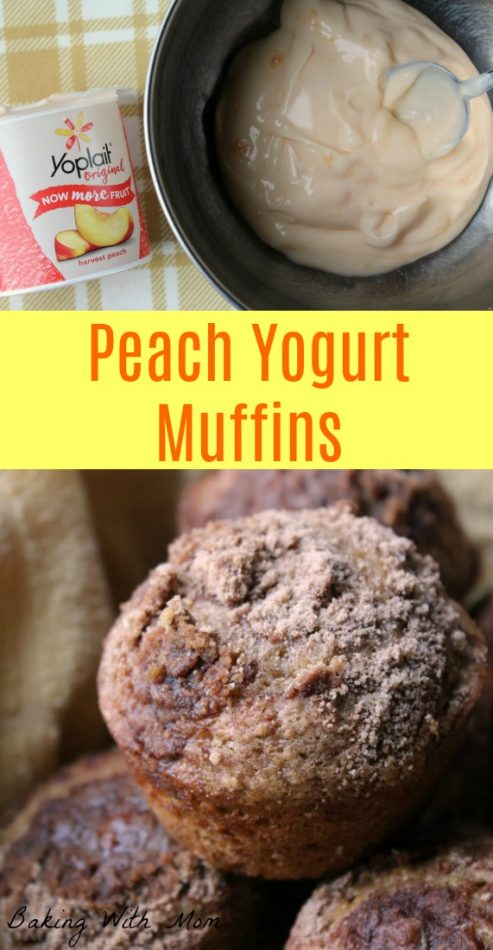 Peach Yogurt Muffins #ad #EarnWithBoxTops a moist muffin made with yogurt. Great for snack, breakfast or lunch!
