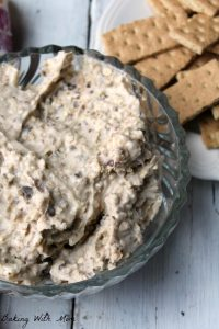 Oatmeal Toffee Dip Cream cheese dip with Heath baking chips