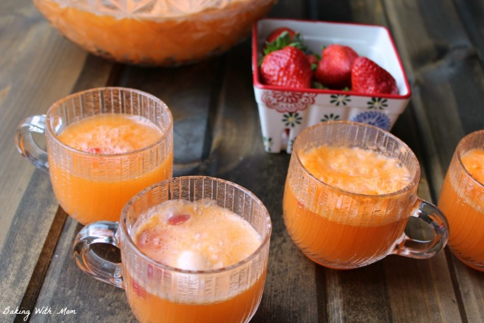 3 ingredient strawberry orange creamsicle punch
