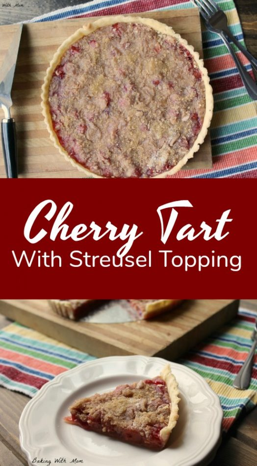 Cherry Tart With Streusel Topping an easy dessert with sweet cherries and delicious crumb topping #dessert #easyrecipe #cherry #recipe