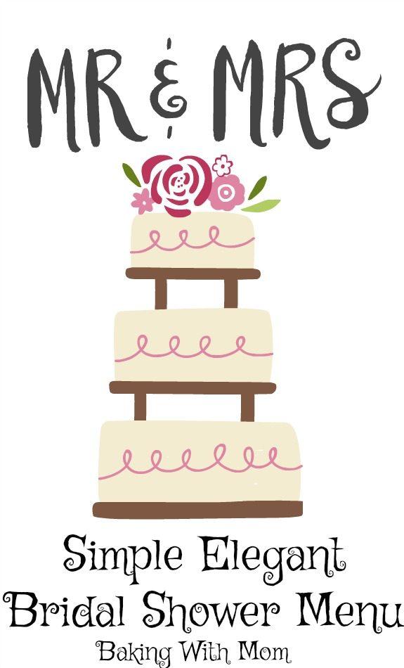 Simple Elegant Bridal Shower Menu a menu for our bridal shower guests #easy #menu #bride #bridalshower