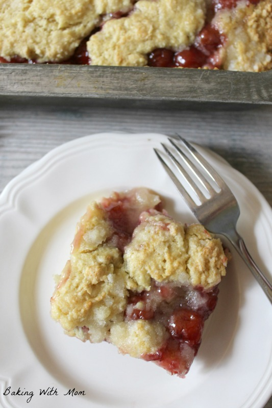 Simple Cherry Coffeecake with a streusel topping great for breakfast for your family or guests