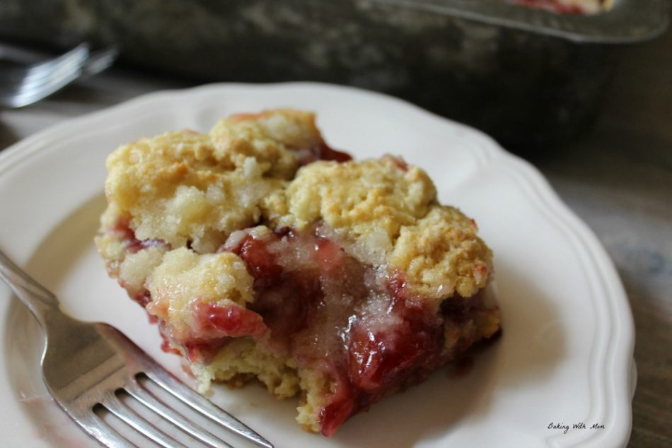Simple Cherry Coffee Cake