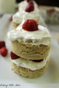 Easy Homemade Strawberry Shortcake on a white plate