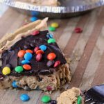 No Bake Peanut Butter Chocolate Pie with peanut butter and M&M's has a graham cracker crust and is great for a dessert