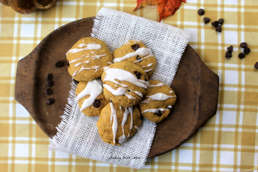 Frosted Pumpkin Chocolate Chip Cookies