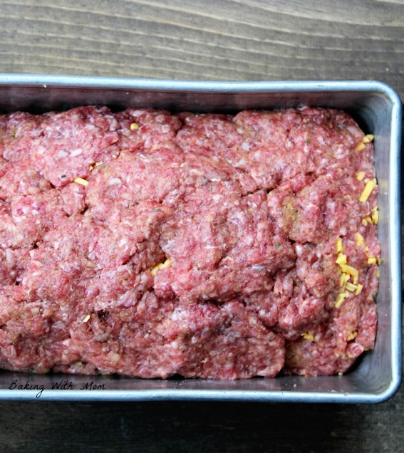 Raw meatloaf ready to cook