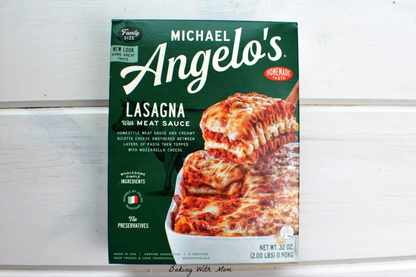 Michael Angelo's Family Sized Lasagna #ad
