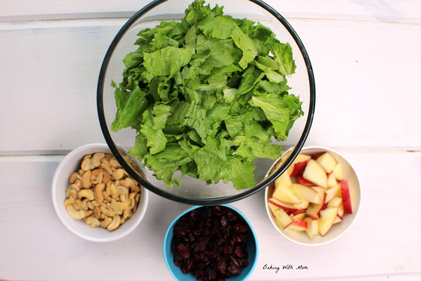 Apple Cranberry Lettuce Salad #ad