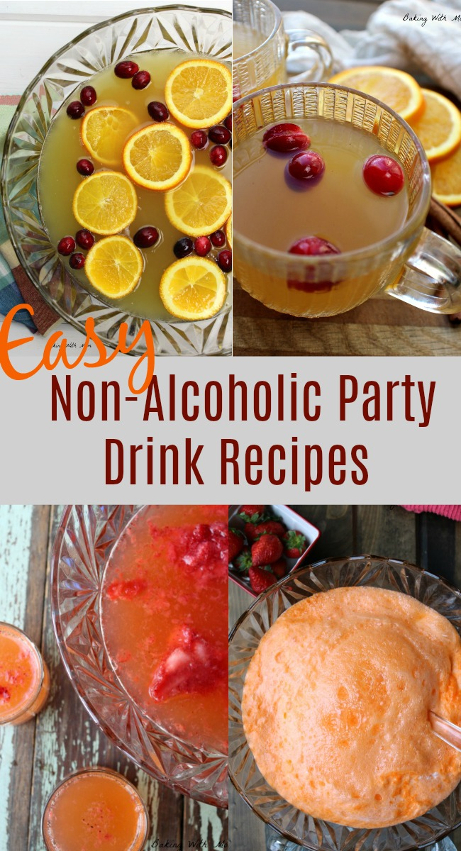 Easy Non-Alcoholic Party Drink Recipes punch recipes great for Christmas, New Year's and family gatherings #orange #punch #drinks #bakingwithmom