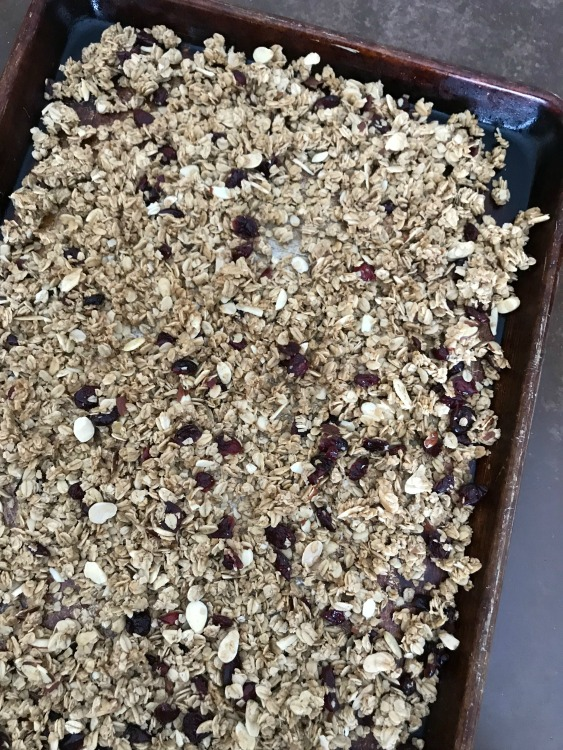 Easy Homemade Granola on a sheet pan