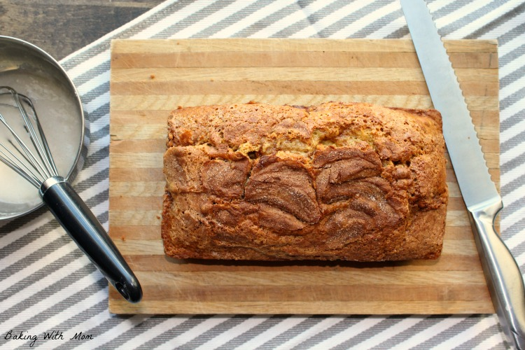 Quick Cinnamon Swirl Bread without frosting