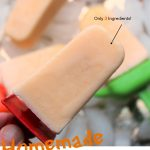 Orange Creamsicle Popsicles with a red handle