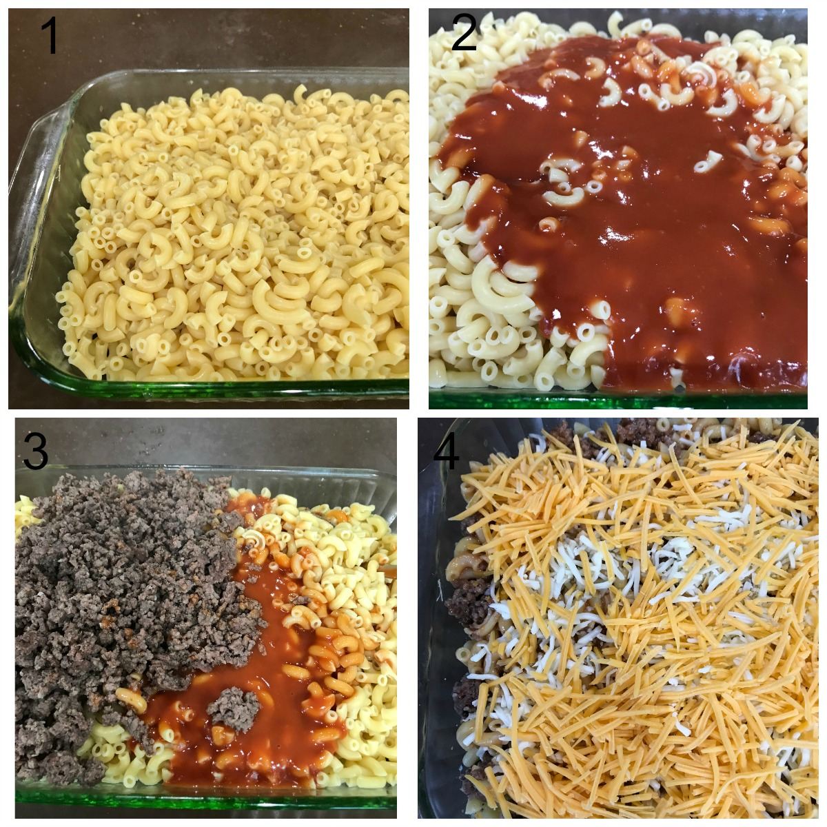 College of hamburger casserole steps to baking