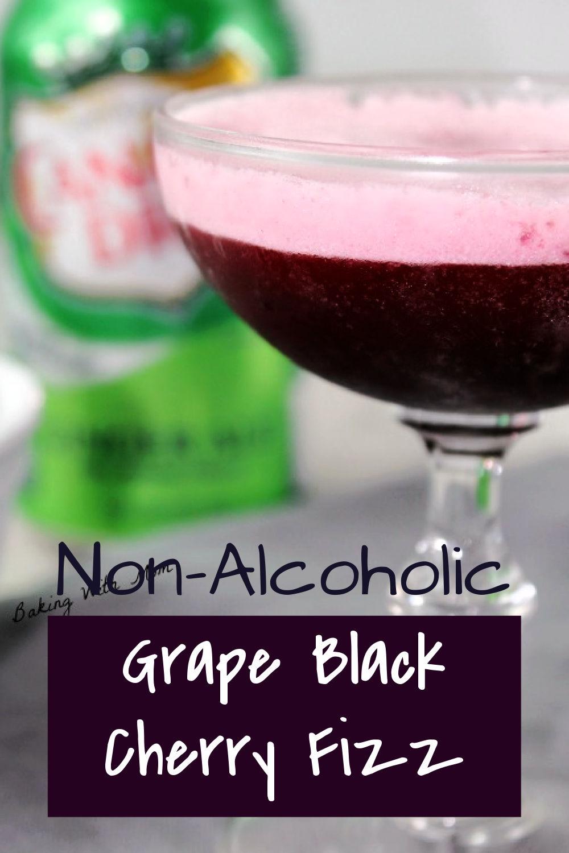 Glass of black cherry fizz.