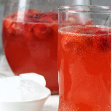 Strawberry lime punch in a glass