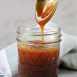 jar of caramel sauce